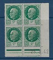 "FR Coins Datés YT 518 "" Pétain 2F00 Vert "" Neuf** Du 25.3.42 - 1940-1949"