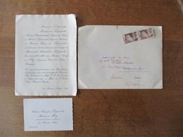 MONSIEUR DE LAGENESTE MINISTRE PLENIPOTENTIAIRE EN ANDORRE FAIT PART DU MARIAGE DE Mlle CHANTAL DE LAGENESTE AVEC HENRY - Mariage