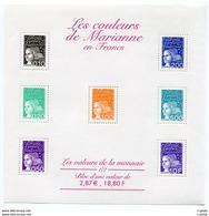 RC 11958 FRANCE BF N° 41 LES COULEURS DE MARIANNE BLOC FEUILLET NEUF ** A LA FACIALE - 1997-04 Marianne Of July 14th
