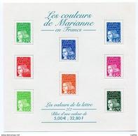RC 11959 FRANCE BF N° 42 LES COULEURS DE MARIANNE BLOC FEUILLET NEUF ** A LA FACIALE - Ungebraucht