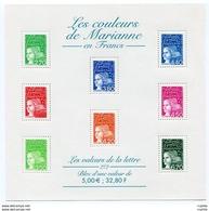 RC 11959 FRANCE BF N° 42 LES COULEURS DE MARIANNE BLOC FEUILLET NEUF ** A LA FACIALE - 1997-04 Marianne Of July 14th