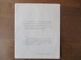 GRENOBLE LE 23 DECEMBRE 1950 MONSIEUR FRANCOIS DE GUILLEBON AVEC MADEMOISELLE FRANCOISE DONDEY - Mariage