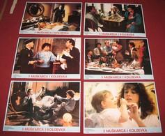Roland Giraud 3 HOMMES ET UN COUFFIN - 6x Yugoslavian Lobby Cards - Foto's