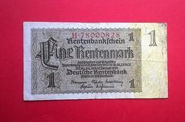 Allemagne. Billet De Pension 1 Rentenmark 1937 - [ 3] 1918-1933 : República De Weimar