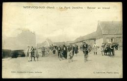 CPA  WERVICQ  SUD  LE PONT FRONTIERE  RETOUR AU TRAVAIL   W27 - France