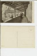 Fiesole (Firenze): Convento Di S. Francesco - Il Piccolo Chiostro. Cartolina Fp Inizio '900 (animata, Frate) - Firenze