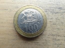 Chili  100 Pesos  2010 Km 236 - Chili