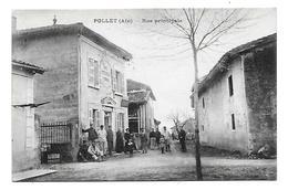 01 Dép.- Pollet (Ain) - Rue Principale.  Mellet, édit Harfleur. Carte Postale Ayant Voyagée En 1932, Dos Vert Séparé, Un - Other Municipalities