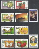 TEN AT A TIME - ANTIGUA AND BARBUDA - LOT OF 10 DIFFERENT 3 - OBLITERE POSTALLY USED GESTEMPELT USADO - Antigua Et Barbuda (1981-...)