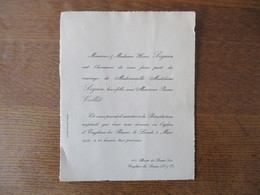 ENGHIEN LES BAINS LE 3 MARS 1930 MADEMOISELLE MADELEINE SEGUIN AVEC MONSIEUR PIERRE VOILLOT - Mariage