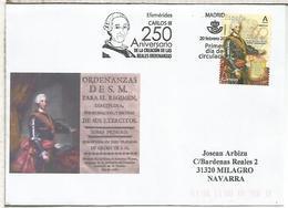 MADRID SPD FDC 250 AÑOS REALES ORDENANZAS DE CARLOS III - 1931-Hoy: 2ª República - ... Juan Carlos I