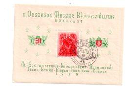 Magyar - Budapest 1938- Feuillet-voir état - Hongrie