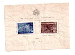 Latvija - 1938 Celtniecibas Fonda- Feuillet-voir état - Lituanie