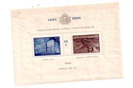 Latvija - 1938 Celtniecibas Fonda- Feuillet-(1934-1939)voir état - Lituanie