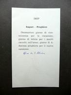 Autografo Beato Giacomo Alberione Santino S. Paolo Apostolo Onomastico Religione - Autographes