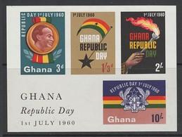 BLOC NEUF DU GHANA - PROCLAMATION DE LA REPUBLIQUE N° Y&T 2 - Ghana (1957-...)