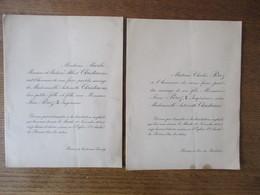 REIMS LE 18 NOVEMBRE 1924 EGLISE St-ANDRE MADEMOISELLE ANTOINETTE CHRISTIAENS AVEC MONSIEUR JEAN PEREZ INGENIEUR - Mariage