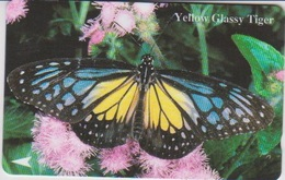 #05 - BUTTERFLY-01 - SINGAPORE - YELLOW  GLASSY TIGER - Albania