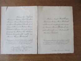 10 JANVIER 1923 EGLISE St AUGUSTIN PARIS MADEMOISELLE VINCENT AVEC MONSIEUR XAVIER HEIDSIECK - Mariage