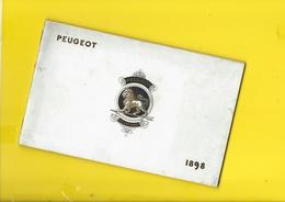 """Catalogue 1898 Cycles """"PEUGEOT"""" Valentigney Terre Blanche Beaulieu 32 Pages + Couverture Format 13 X 21 Cm Env.. - Cyclisme"""