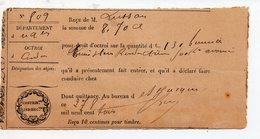 Condom (32 Gers) Lot De 2 Reçus OCTROI BUREAU DE ST JACQUES Vendanges) 1903 (PPP17974) - Advertising