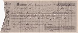 BRASIL BRAZIL - MARANHÃO 1868 - FABRICA FIAÇÃO DO RIO VIZELA - PORTO - PORTUGAL -  LETRA - BILL OF EXCHANGE - Wechsel