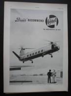 ORIGINAL 1952 MAGAZINE ADVERT FOR BRISTOL G-ALBN HELECOPTER/CASTROL OIL - Other