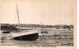 Cpa Ile De Batz Le Port à Marée Basse Le Phare - Ile-de-Batz