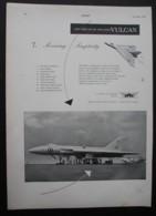 ORIGINAL 1954 MAGAZINE ADVERT FOR AVRO VULCAN BOMBER AEROPLANE - Other