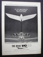 ORIGINAL 1964 MAGAZINE ADVERT FOR BOAC VC 10 AEROPLANE - Advertising