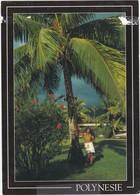 1539 PAYSAGE POLYNESIEN - AUTOCHTONE CONTRE UN PALMIER - French Polynesia