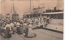 76 Dieppe. Embarquement Des Passagers Pour L'angleterre - Dieppe