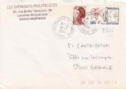 TP N° 2308 Avec Marianne Sur  Enveloppe De Migennes Avec Cachet De St Gydroine - 1961-....