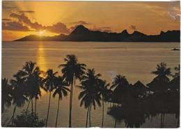 1541 COUCHER DE SOLEIL SUR MOOREA - VU DU BEACHCOMBER PARKROYAL - French Polynesia