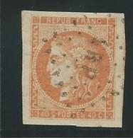 FRANCE: Obl., N° 48, Orange TB - 1870 Bordeaux Printing