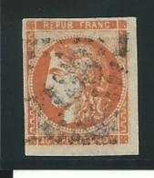 FRANCE: Obl., N° 48a, Orange Vif, Signé, B/TB - 1870 Ausgabe Bordeaux