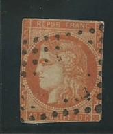 FRANCE: Obl., N° 48c, Rouge-orange, DEF - 1870 Bordeaux Printing