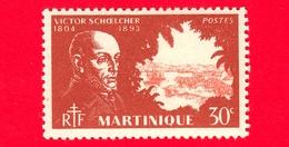 Nuovo - MH - MARTINICA - 1945 - Victor Schoelcher (1804-1893) - 30 - Martinica (1886-1947)