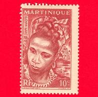 Nuovo - MH - MARTINICA - 1947 - Donna - Young Martinique - 10 - Martinica (1886-1947)
