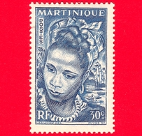 Nuovo - MH - MARTINICA - 1947 - Donna - Young Martinique - 30 - Martinica (1886-1947)
