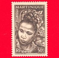Nuovo - MH - MARTINICA - 1947 - Donna - Young Martinique - 50 - Martinica (1886-1947)