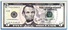 """STATI UNITI 2006 - 5 Dollari - """"Lincoln Nuovo Tipo""""  Banconota In Condizioni FDS - Billets De La Federal Reserve (1928-...)"""