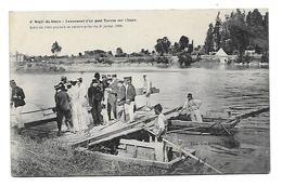 38 Dép.- Regt. Du Génie - Lancement D'un Pont Tarron Sur L'Isère. Lieu Ou S'est Produit La Catastrophe Du 9 Juillet 1906 - Grenoble