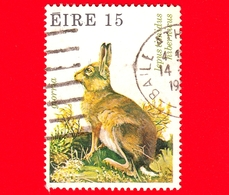 IRLANDA - Usato - 1980 - Fauna Selvatica - Lepre Di Montagna (Lepus Timidus Hibernicus) - 15 - 1949-... Repubblica D'Irlanda