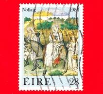 IRLANDA - Usato - 1988 - Natale - La Fuga In Egitto - 28 - 1949-... Repubblica D'Irlanda