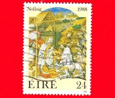 IRLANDA - Usato - 1988 - Natale - L'adorazione Dei Magi - 24 - 1949-... Repubblica D'Irlanda