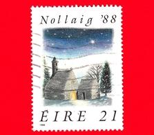 IRLANDA - Usato - 1988 - Natale - S. Kevin, Chiesa, Glendalough - 21 - 1949-... Repubblica D'Irlanda