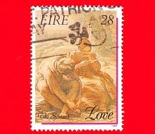 IRLANDA - Usato - 1989 - Francobolli Di Saluto - Amore - Love - San Valentino - 28 - 1949-... Repubblica D'Irlanda