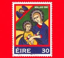 IRLANDA - Usato - 1990 - Natale - Madonna Con Bambino - 30 - 1949-... Repubblica D'Irlanda