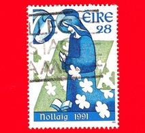 IRLANDA - Usato - 1991 - Natale - Annunciazione - 28 - 1949-... Repubblica D'Irlanda